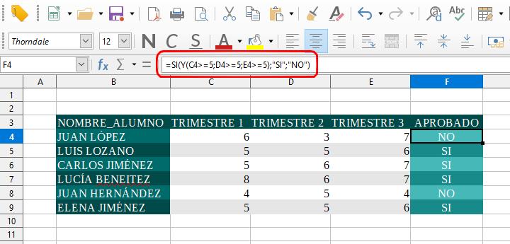 Funciones lógicas Excel